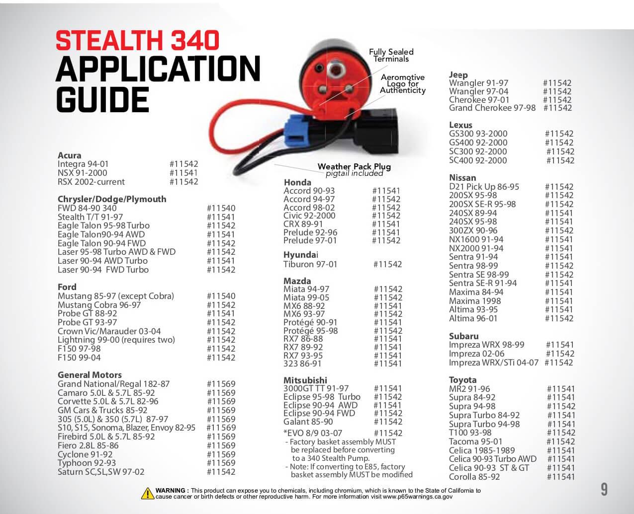 E85 Compatible, 11540