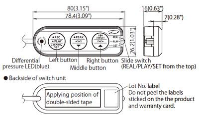 ADVANCE switch size